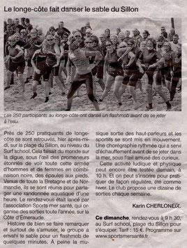 OUEST FRANCE 14 SEPT. 2014 - Ah qu'elles sont jolies les filles de mon pays!