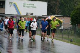 Schlechtes Wetter ist kein Grund, das Training ausfallen zu lassen.