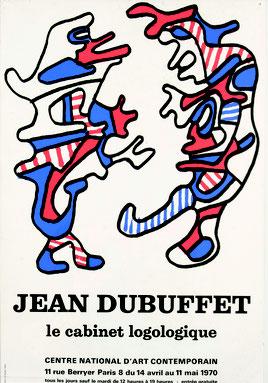 JEAN DUBUFFET LE CABINET LOGOLOGIQUE 1970 centre national d'art contemporain , expose à la galerie agnes thiebault