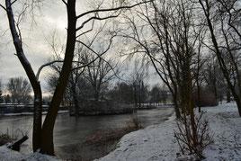 Der Schlossteich im Winter