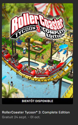 RollerCoaster Tycoon 3 Complete Edition epic Games Store