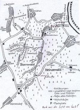 Bild: Wünschendorf Bornwald Karte Bertelsdorf