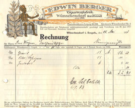 Bild: Wünschendorf Erzgebirge Zigarrenrechnung