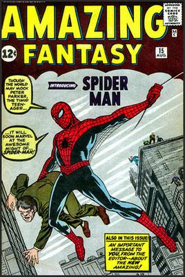 Amazing Fantasy #15 primera aparición del personaje