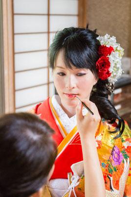 紅さしの儀 花嫁の仕上げは母親代わりのお姉さまが一筆@結(ゆい)