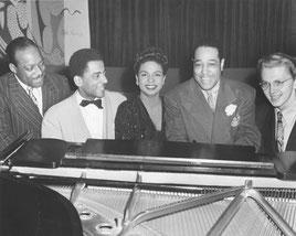 Cinco pianistas excepcionales: Count Basie, Teddy Wilson, Hazel Scott, Duke Ellington y Mel Powell