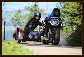 Seppi auf Ducati SS Gespann