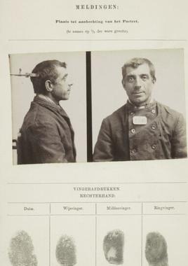 Signalementkaart Veenhuizen opname 12-11-1896