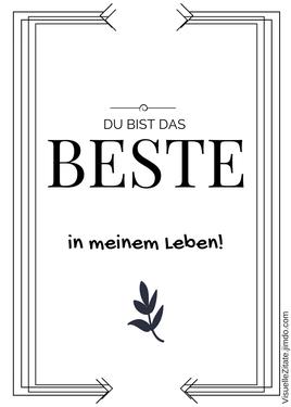 poster zum ausdrucken, DU BIST DAS BESTE IN MEINEM LEBEN, visuelle zitate, postergalerie, poster mit sprüchen