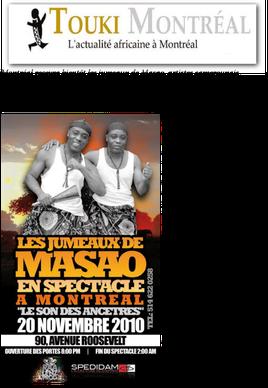 Les jumeaux de Masao article journal Touki Montréal