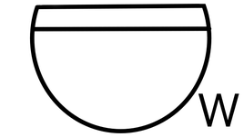 差動式スポット型熱感知器(防水型)の図面記号