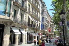 шоппинг в Барселоне, улица Пассео де Грасия