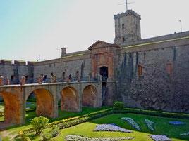 Крепость на горе Монжуик в Барселоне