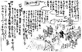 清風一代記略図より、「始ノ御法難」の図