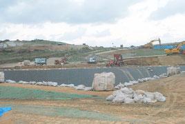 与那国町で進む陸上自衛隊沿岸監視部隊の駐屯地建設工事(2月16日)