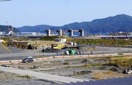 庁舎からほど近くにある大槌港