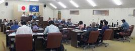 竹富町議会9月定例会の最終本会議が開かれ、閉会した=6日午後、町議場