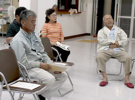 新庁舎建設について意見交換会が開かれた=10日夜、名蔵公民館