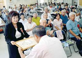 ▽12年ぶりに宮良地区の産業共進会が開かれた=25日、宮良公民館