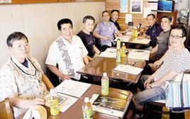 そば選手権実行委員会が開催された=13日午後、新栄町