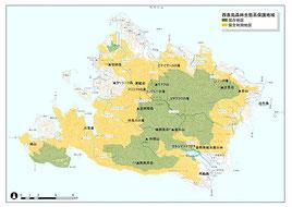 西表島森林生態系保護地域の位置図