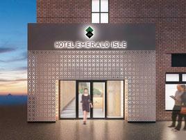 エメラルドアイル石垣島の外観予想図(A・I・design提供)