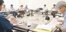 様々な意見が交わされた連絡会議=6月30日午後、八重山合同庁舎