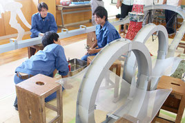 「第7回スターリングテクノラリー沖縄県大会」が開催された=3日午後、八重山商工高校