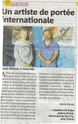 Senol Sak, La Gazette 15/8/2012