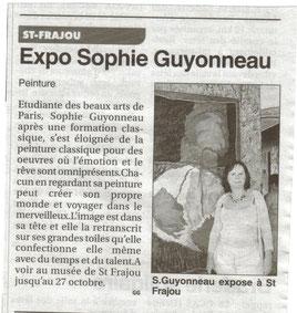 Sophie Guyonneau, Le Petit journal 10/10/2012