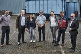 """Gruppenfoto im Rahmen des Unternehmens-Besuchsprogrammes """"Erfolgsfaktor Energieeffizienz 2017"""""""