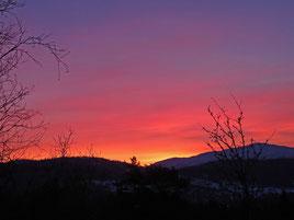 Kurz vor Sonnenaufgang in der Nähe von Rauland (AF)