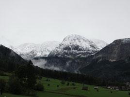 Der verschneite Tajakopf am Vortag