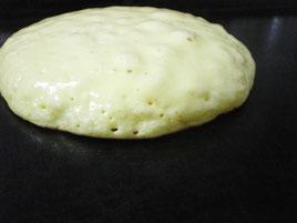 アツアツ鉄板リコッタチーズのパンケーキオサエちゃん