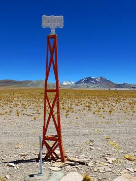 Hier verläuft die Grenze Chile/Argentinien. Erst elf Kilometer weiter befindet sich der Grenzposten.