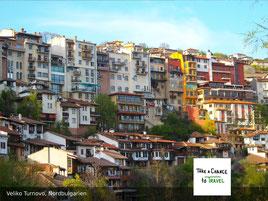 Veliko Turnovo - eine der schönsten bulgarischen Städte, hier übernachtest Du zwei Nächte auf Deiner Rundreise in Bulgarien.