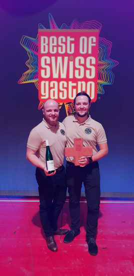 Pascal (links) und Philipp Luder bei der Best of Swiss Gastro-Preisverleihung. Photo © «Pasta Barn»
