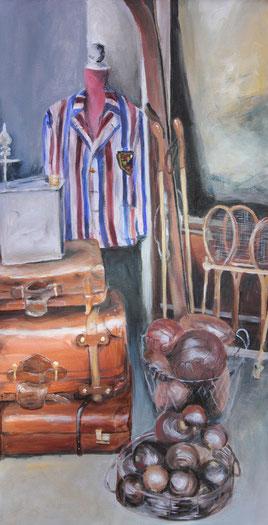 Notting Hill II / Acryl auf Leinwand 40 x 80
