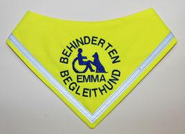 Behinderten Begleithund Kenndecke / Halstuch, neongelb