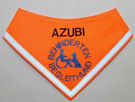 Behinderten Begleithund Azubi / Halstuch, neongelb