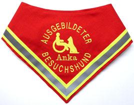 Therapie Begleithund Kenndecke / Halstuch, Besuchshund, Schulhund,Azubi