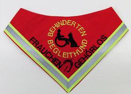 Behinderten Begleithund, Gehörlos / Halstuch, neongelb