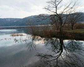 余呉湖の景色