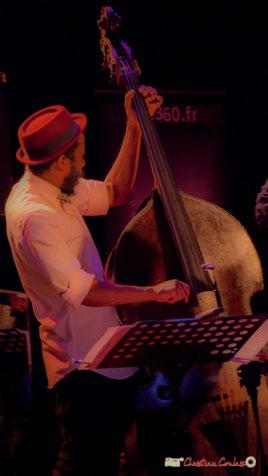 Joe Sanders; Vincent Bourgeyx Quartet. Festival JAZZ360, salle culturelle de Cénac. Samedi 9 juin 2018