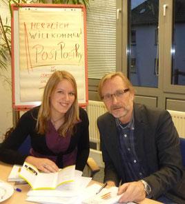 Nachwuchsautorin und Preisträgerin Christiane Reinert im Werkstattgespräch mit Manfred Sestendrup.