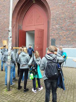 Ankunft in St. Joseph (Foto: Lisa Mathofer / Bistum Essen)