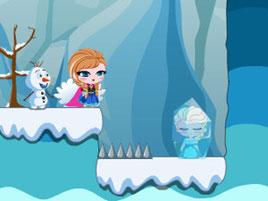 Игра бродилка Холодное сердце Анна спасает Эльзу