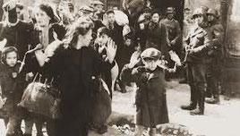 Deportazione di ebrei, foto d'archivio