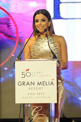 L'actrice Eva Longoria présente le global gift gala de Marbella;