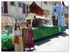 Avec notre cousin Yancy devant le char